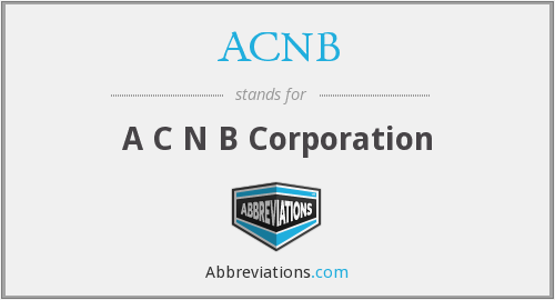 What does ACNB stand for?