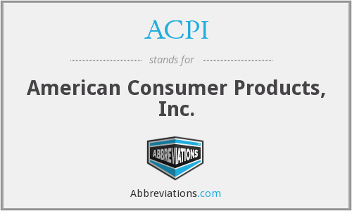 ACPI - American Consumer Products