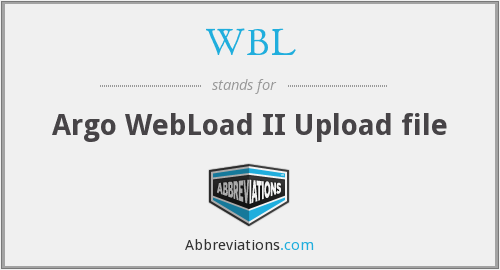 WBL - Argo WebLoad II Upload file