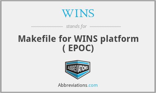 WINS - Makefile for WINS platform ( EPOC)