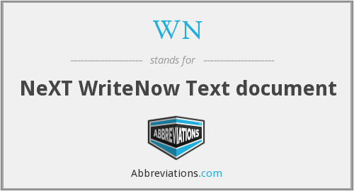 WN - NeXT WriteNow Text document