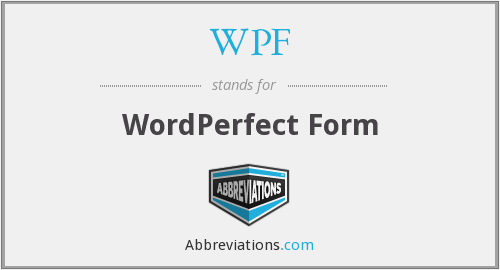 WPF - WordPerfect Form
