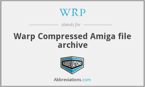 WRP - Warp Compressed Amiga file archive