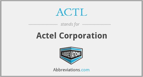 ACTL - Actel Corporation