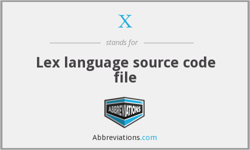 X - Lex language source code file