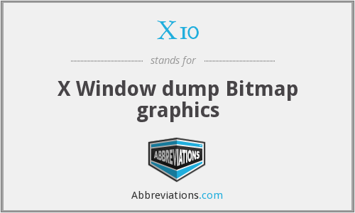 X10 - X Window dump Bitmap graphics