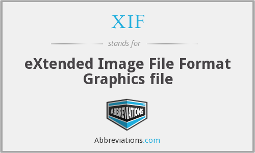 XIF - eXtended Image File Format Graphics file