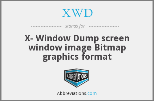 XWD - X- Window Dump screen window image Bitmap graphics format