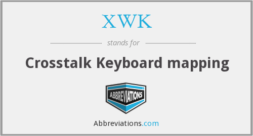 What does XWK stand for?