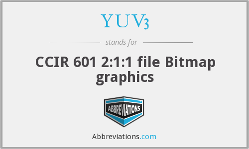 YUV3 - CCIR 601 2:1:1 file Bitmap graphics