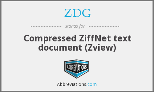 ZDG - Compressed ZiffNet text document (Zview)