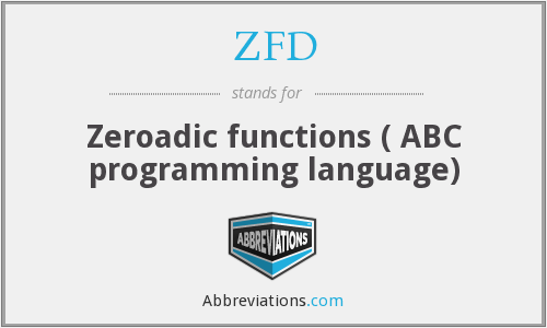 ZFD - Zeroadic functions ( ABC programming language)