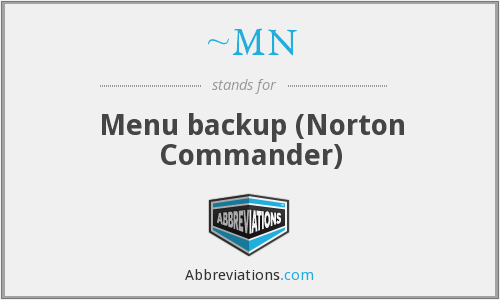 ~MN - Menu backup (Norton Commander)