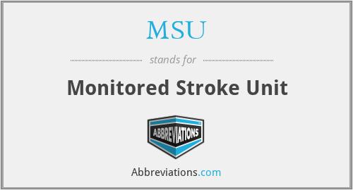 MSU - Monitored Stroke Unit