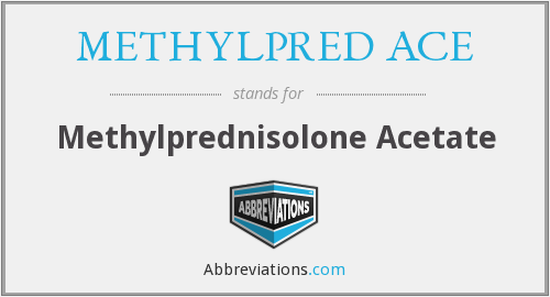 What does METHYLPRED ACE stand for?