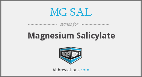 What does MG SAL stand for?