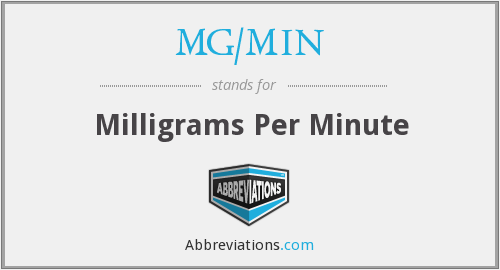 What does MG/MIN stand for?