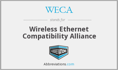 WECA - Wireless Ethernet Compatibility Alliance