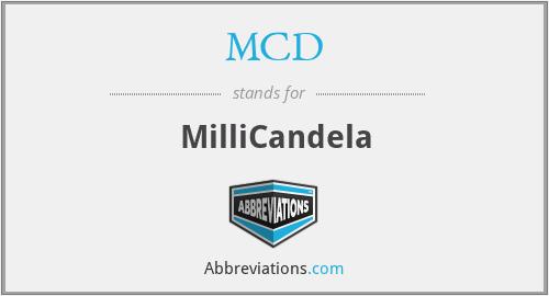MCD - MilliCandela