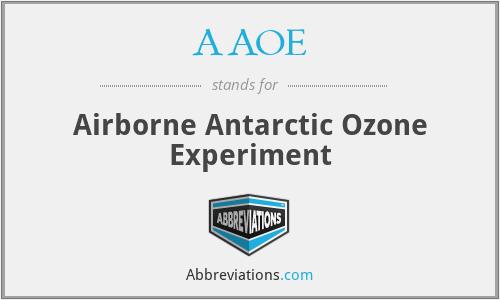 AAOE - Airborne Antarctic Ozone Experiment