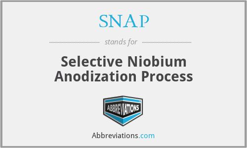 SNAP - Selective Niobium Anodization Process