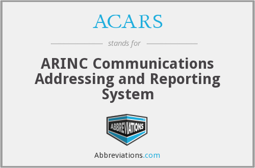 ACARS - ARINC Communications Addressing and Reporting System