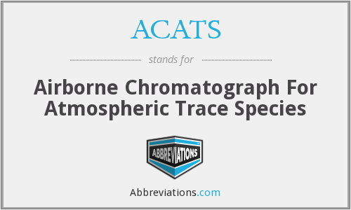 ACATS - Airborne Chromatograph For Atmospheric Trace Species