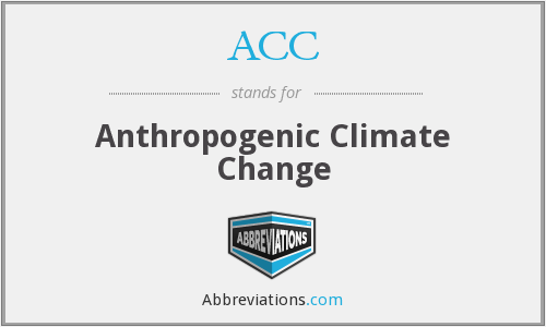 ACC - Anthropogenic Climate Change