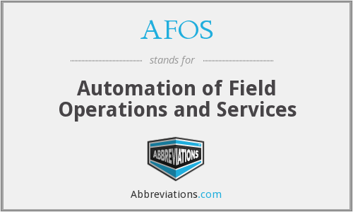What does AFOS stand for?