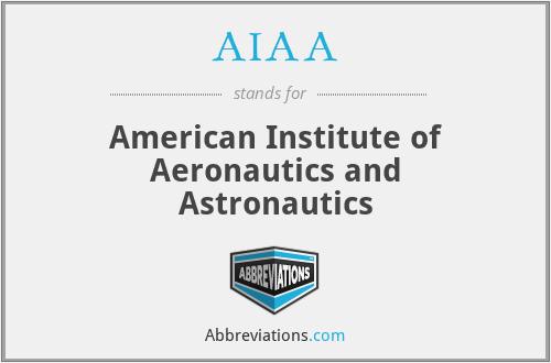 AIAA - American Institute of Aeronautics and Astronautics