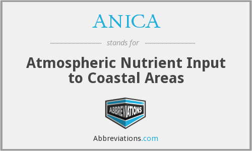 ANICA - Atmospheric Nutrient Input to Coastal Areas