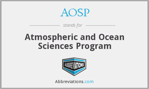 AOSP - Atmospheric and Ocean Sciences Program