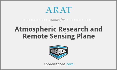 ARAT - Atmospheric Research and Remote Sensing Plane