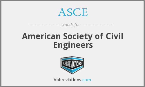 What does ASCE stand for?