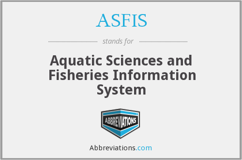 What does ASFIS stand for?