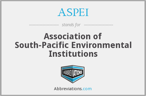 ASPEI - Association of South-Pacific Environmental Institutions