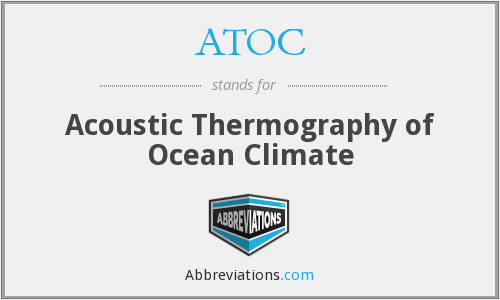 ATOC - Acoustic Thermography of Ocean Climate