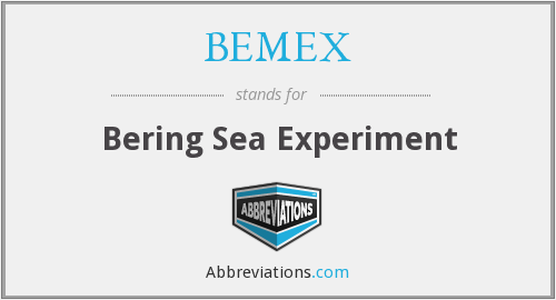 BEMEX - Bering Sea Experiment