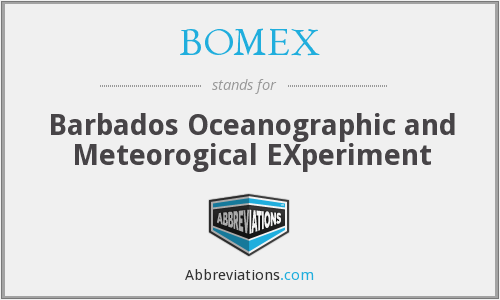 BOMEX - Barbados Oceanographic and Meteorogical EXperiment