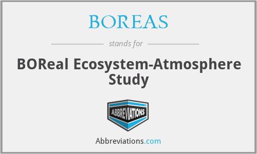 BOREAS - BOReal Ecosystem-Atmosphere Study