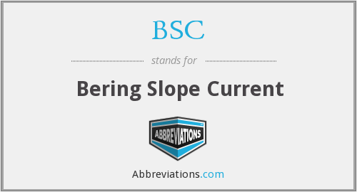 BSC - Bering Slope Current