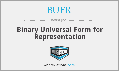 BUFR - Binary Universal Form for Representation