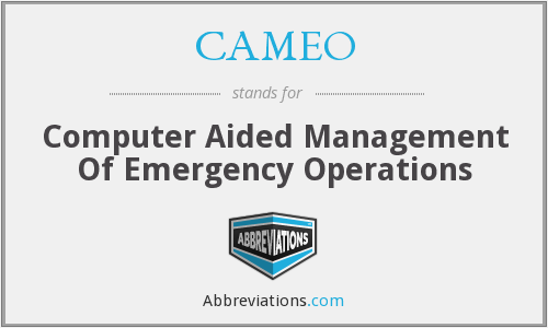 CAMEO - Computer Aided Management Of Emergency Operations