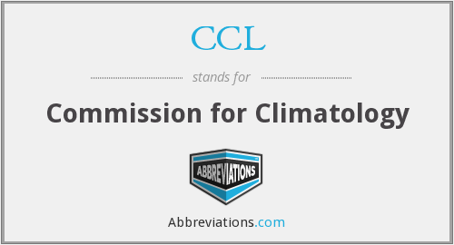CCL - Commission for Climatology