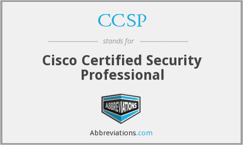 CCSP - Cisco Certified Security Professional