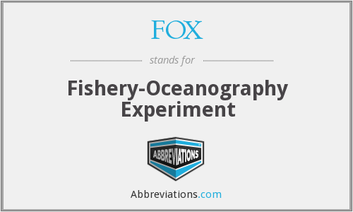 FOX - Fishery-Oceanography Experiment