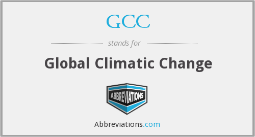 GCC - Global Climatic Change