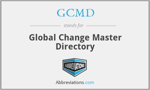 GCMD - Global Change Master Directory