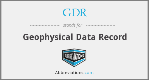 GDR - Geophysical Data Record