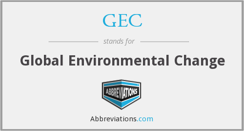 GEC - Global Environmental Change